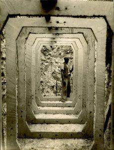 Air raid shelter being built at Park Street Infants School 13 September 1939.