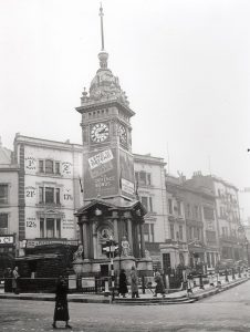 The Clock Tower in North Street during the Second World War