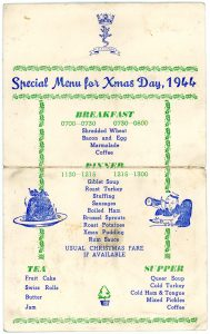H.M.S. Lizard Special Menu for Xmas Day, 1944
