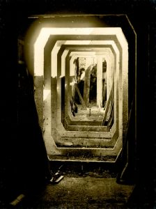 Air raid shelter under construction at Pelham Street School Brighton.