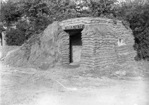 Entrance of a Second World War air raid shelter in Brighton.