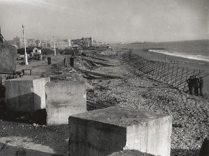 Hove beach with anti-invasion beach obstacles