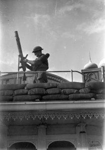 Lewis machine gun at the Palace Pier in Brighton, c1940